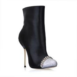 Fashion Black Closed-Toe Ankle Women's Boots