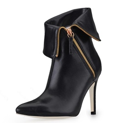New Stiletto Heels Closed-toe Ankle Boots