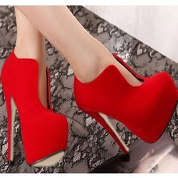 Graceful Suede Upper Wedding Shoes