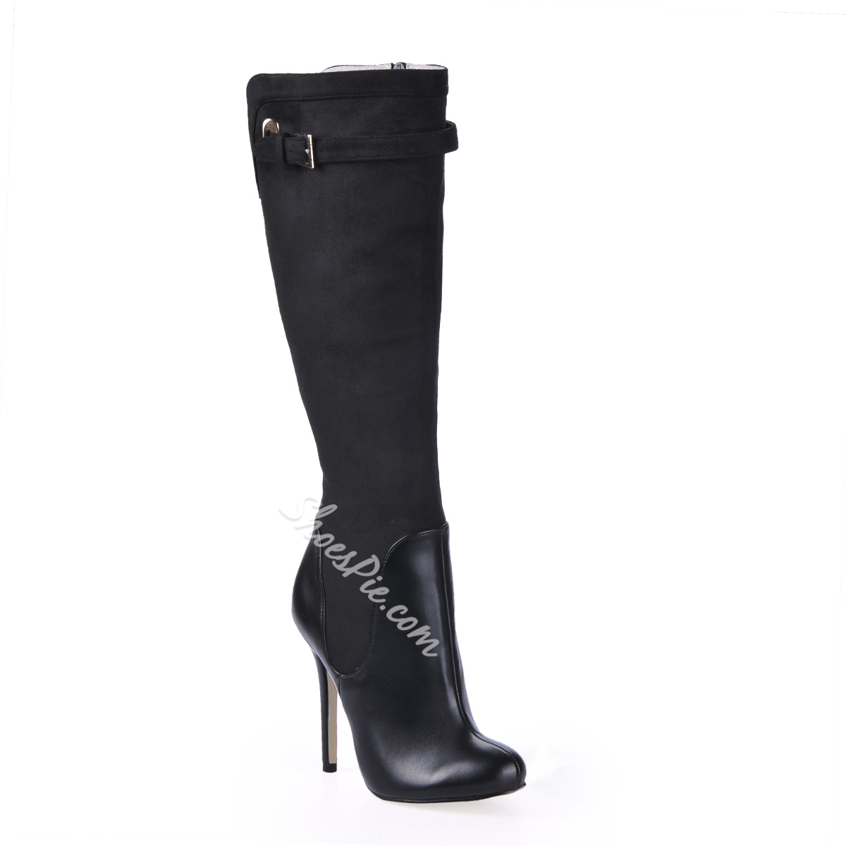 Charming Black Stiletto Heels Knee High Boots