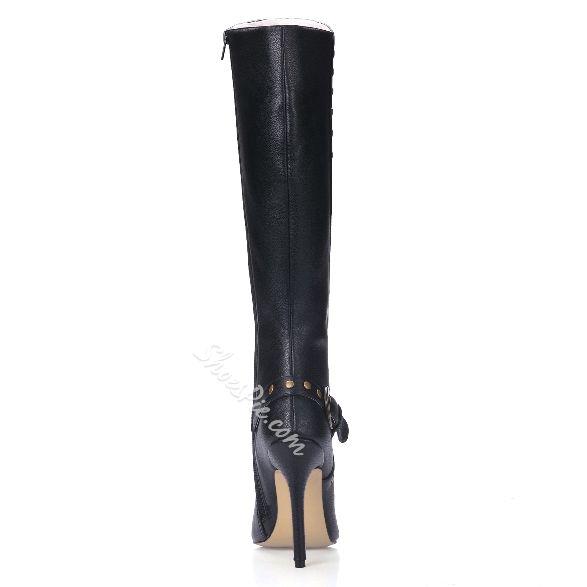 Elegant Black Knee High Women's Boots