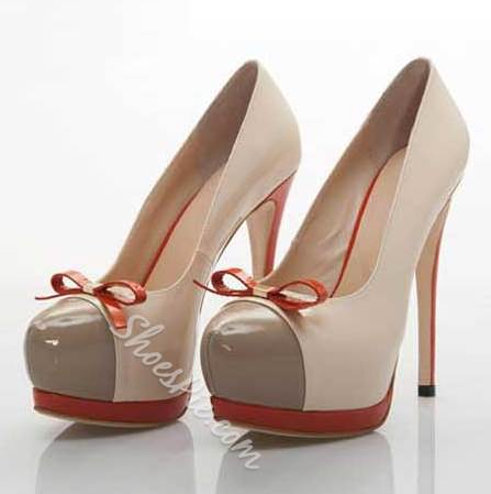 Fashion Platform Stiletto Heel Round-toe Heels