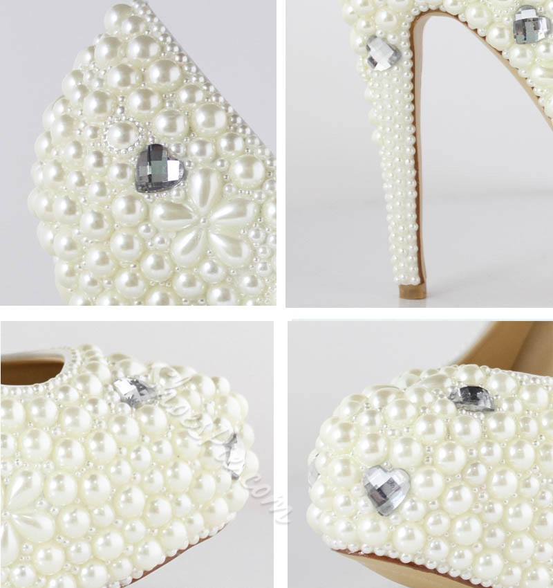 Fashion Platform Upper Closed Toe Bride Shoes