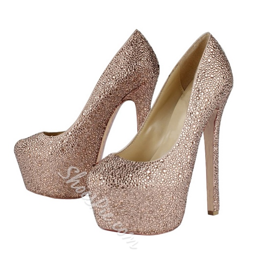 Fall New Suede Upper Stiletto Heel Wedding Shoes