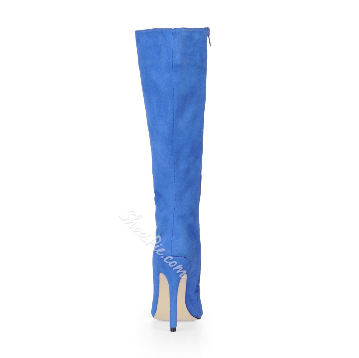Fancy Sky Blue Stiletto Closed-toes Knee High Women's Boots