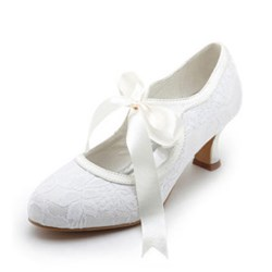 High Quality Upper Mid Heel Closed-toes Bridal Shoes
