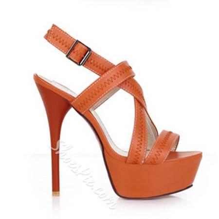 Stylish Stiletto Platform Sandals with Cross Straps