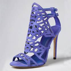 Gorgeous Suede Upper Stiletto Heels Women Sandals