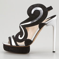 Classic Black High Heels Platform Peep Toe Women sandals