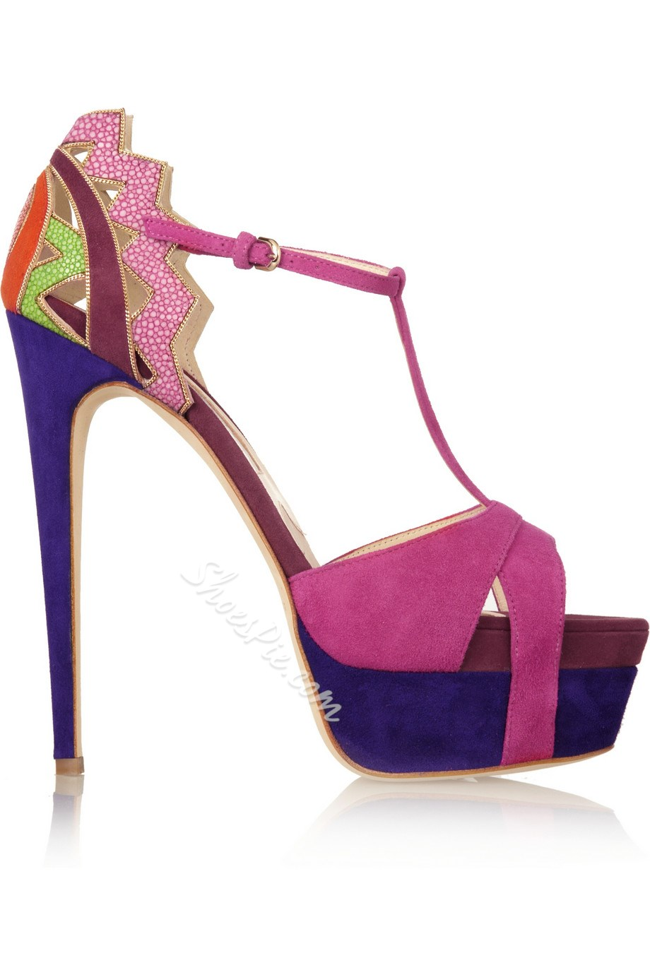 Glamorous Natural Stiletto Heels Pink Dress Sandals