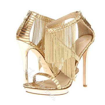 Shinning Tassels Stiletto Dress Sandals