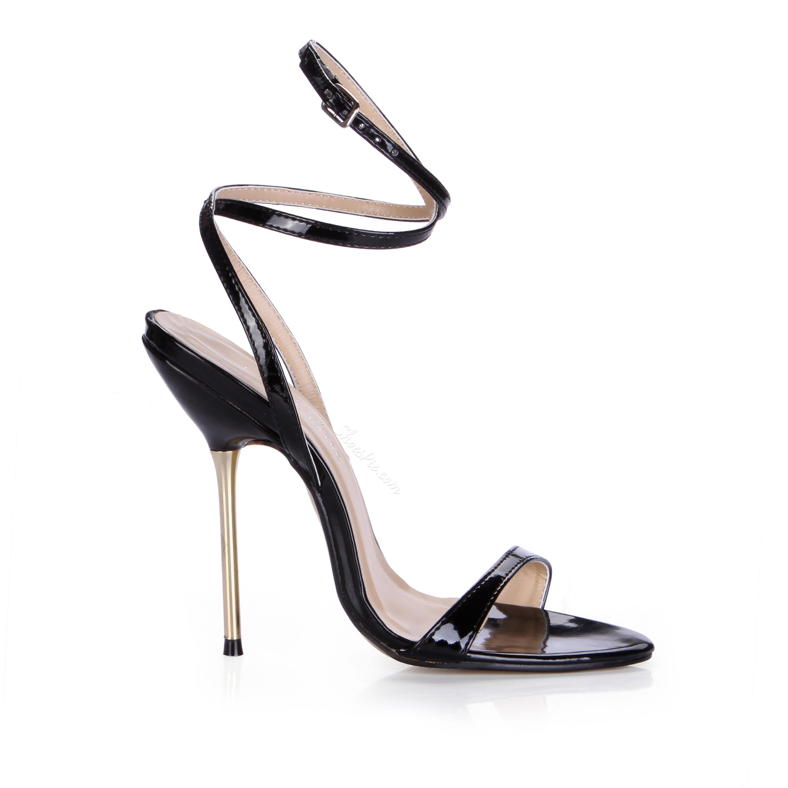 Elegant Black Platform Stiletto Heel Dress Sandals