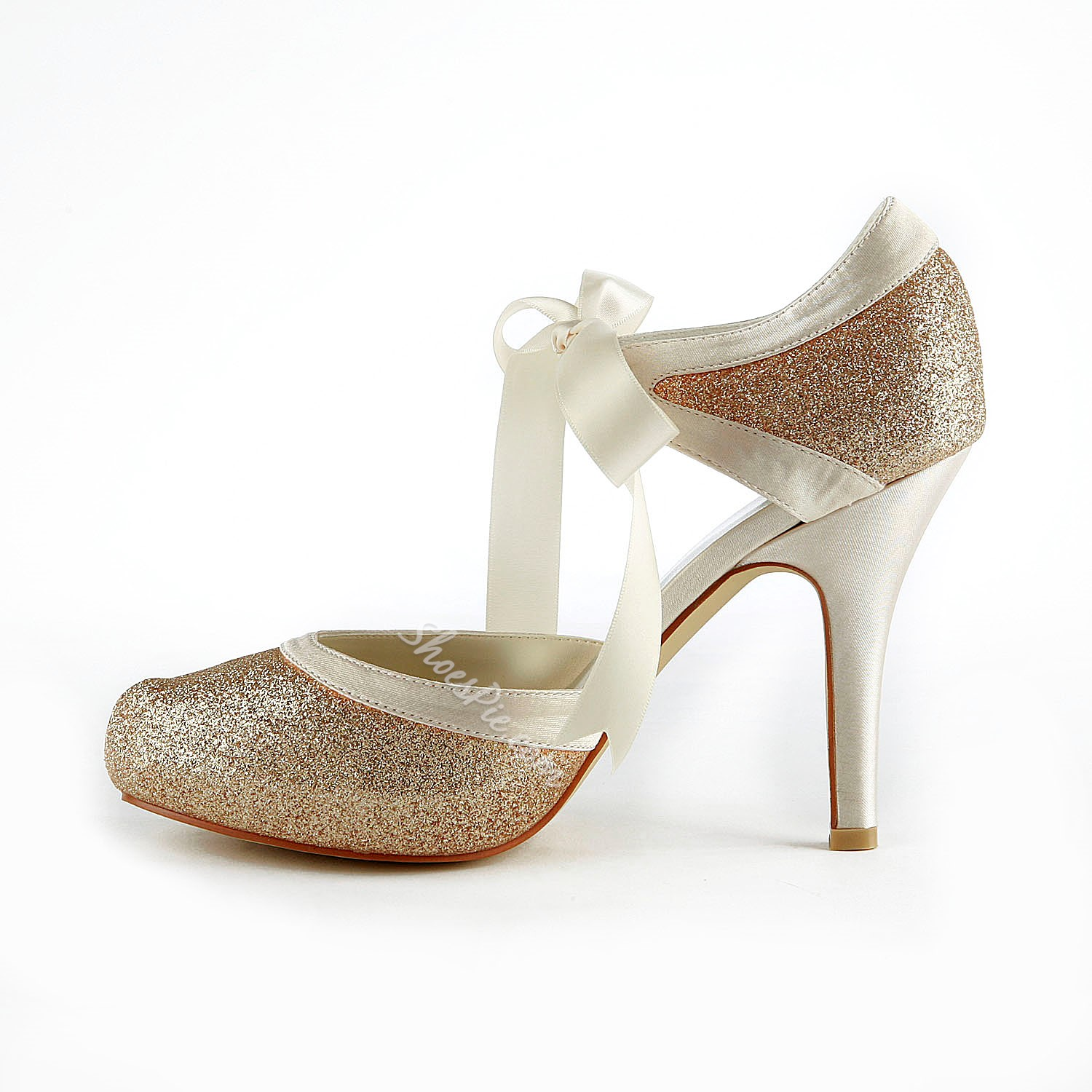 8341cb55d6 New Champagne Closed-toe Wedding Shoes- Shoespie.com