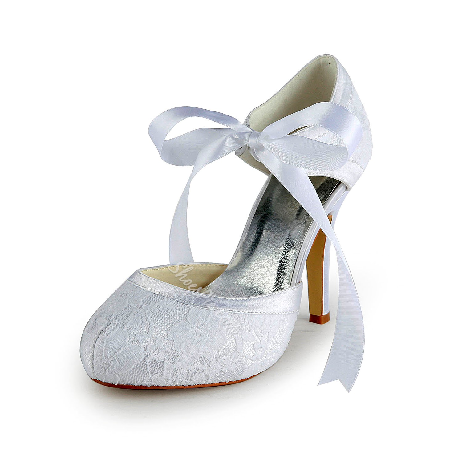 New Closed-toe Lace Wedding Shoes