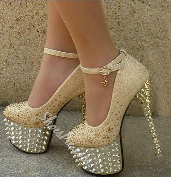 Sparkle Platform Stiletto Heels Bridal Shoes