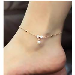 Cute Shinning Rhinestones Bowknot Women's Anklets