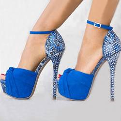 Chic Matching Color Ankle Strap Platform Sandals