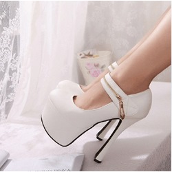 Elegant High Platform Heels with Ankle Strap