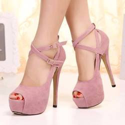 Sexy Platform Stiletto Heels Peep-toe Nightclub Shoes