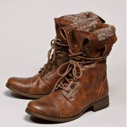 Warm & Comfortable Lace-up Flat Boots