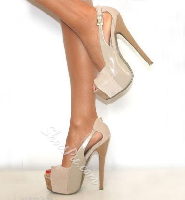 Fashionable Peep-Toe Cut-outs Stiletto Heels