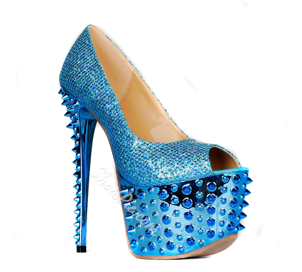 Sexy Blue High Heels Women Pumps- Shoespie.com