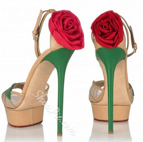 Amazing Assorted Color Platform Sandals with Flower