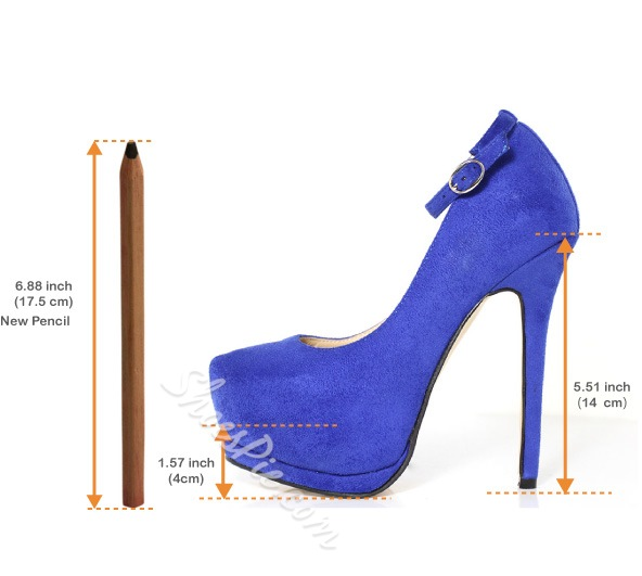 Fashionable OL Stiletto Heel with Ankle Strap