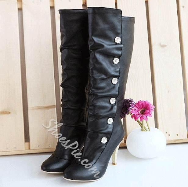 Sweet Girl Stiletto Heel Platform Knee High Boots