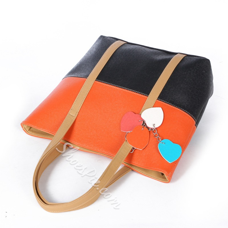 Shoespie Boutique Split Joint Candy Color Handbag
