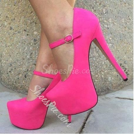Shoespie Chic Suede Mary Jane Platform Sky High Pumps