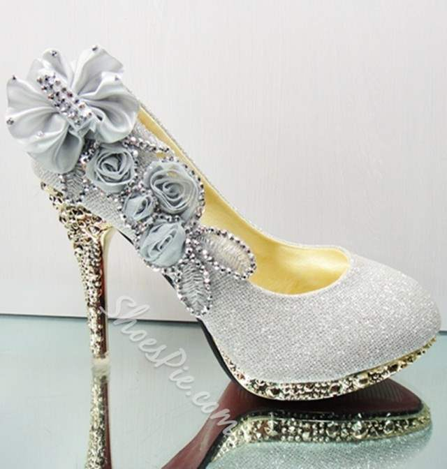 Shoespie Trendy Round Toe Bow Slip-On Wedding Shoes