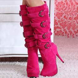 Fancy Platform Stiletto Heel Knee High Boots