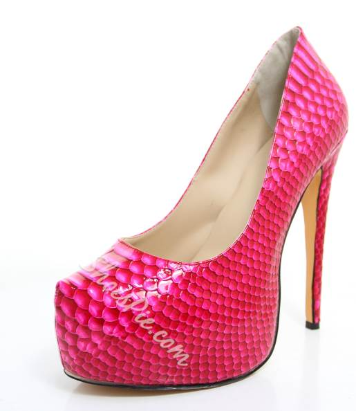 Cool Show Rose PU Stiletto Heel Platform High Heel Shoes