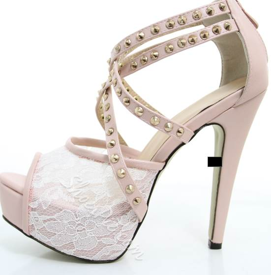 Retro Fashionable Rivet Platform Sandals