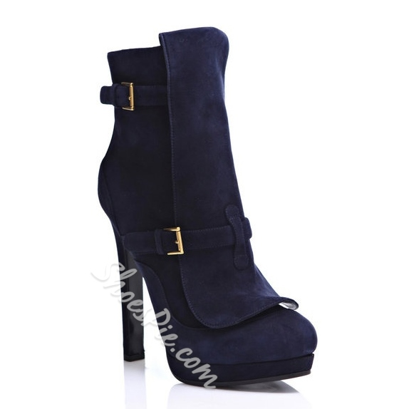 Retro Fashion Platform Stiletto Heel Ankle Boots