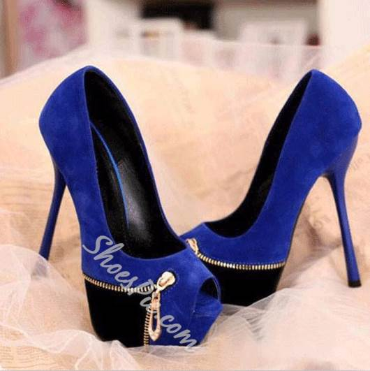 Cool Show Contrast Colour Platform High Heels