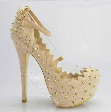 Sexy Suede Rivets Decoration Stiletto Heels