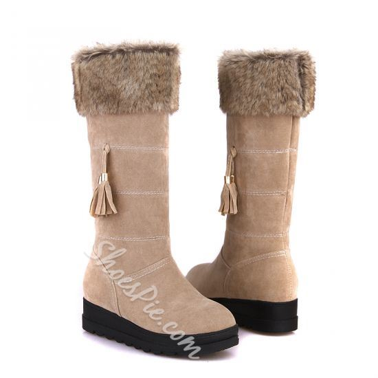 Winner Sweet Suede Tassels Comfortable Snow Boots