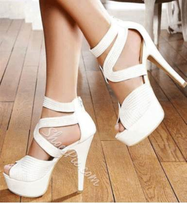 Elegant Coppy Leather Ankle Strap Sandals
