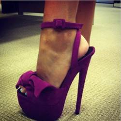 Fancy Suede Amazing Bowtie High Heel Sandals