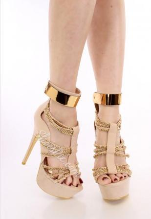 Fashionable Suede Rhinestone Cut-outs High Heel Sandals