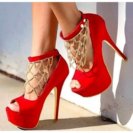 Gorgeous Suede Platform High Heel Shoes with Rhinestone Decoration