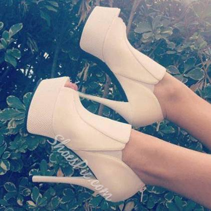 Fashionable Solid Color Suede High Heel Ankle Boots