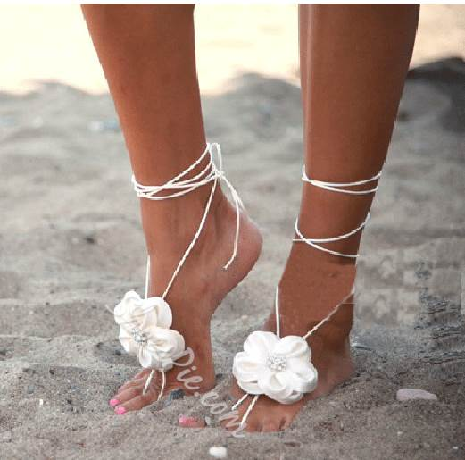 New arrival white silk organza flowers beach wedding shoes new arrival white silk organza flowers beach wedding shoes junglespirit Images