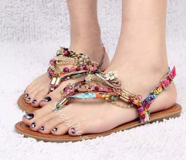 Colorful Hand-made Popular Flat Sandals