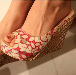 Comfortable Bohemian Wedge Heels Slippers