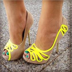 Stylish Coppy Leather Double Buckle Wedge Sandals