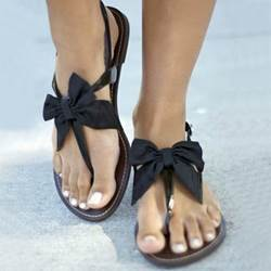 Shoespie New Arrival Satin Bowtie Flat Sandals