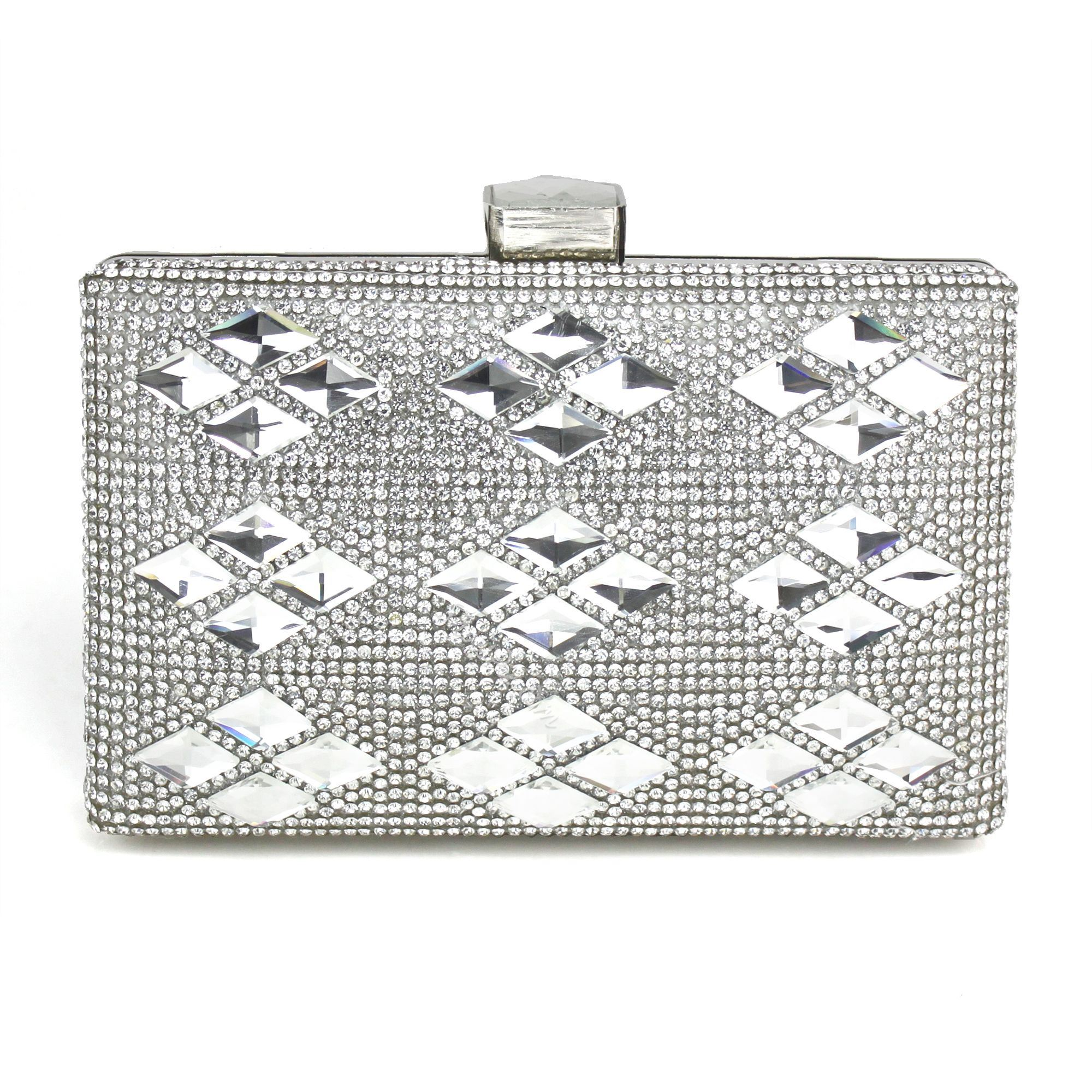 Shoespie Rhinestone Chain Handbag